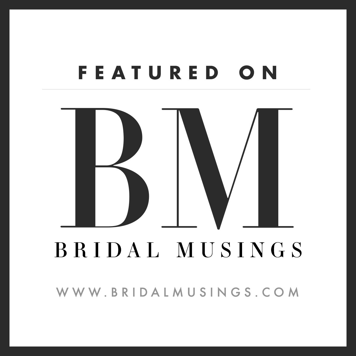 Bridal Musing Badge