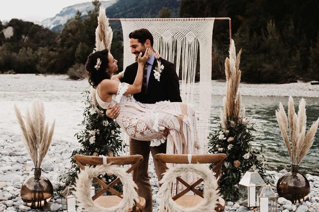 Mountain Elopement in Tamins
